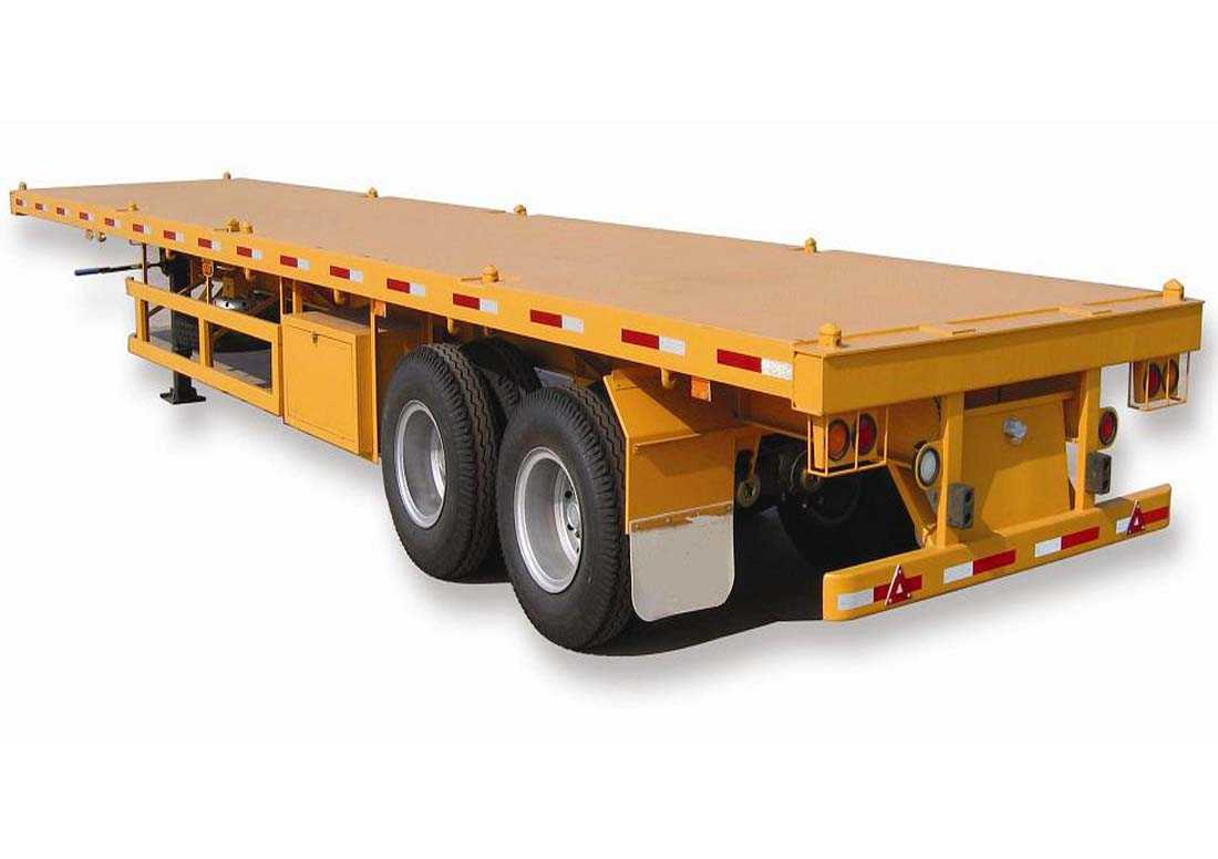 2 Axles Flat bed Semitrailer